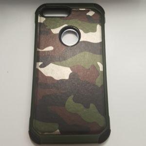 """Case for iphone 7 plus 5.5"""" black-camo hardcase"""
